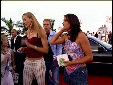 kerri walsh and misty may exiting their limo and walking down the 2004 mtv video music awards red carpet - kerri walsh jennings stock videos and b-roll footage