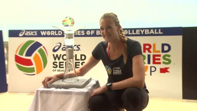 kerri walsh jennings at asics world series of beach volleyball in manhattan beach ca on 6/25/13 - kerri walsh jennings stock videos and b-roll footage
