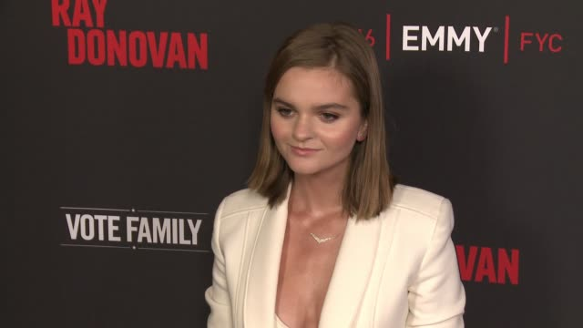 """kerris dorsey at for your consideration screening and panel for showtime's """"ray donovan"""" - red carpet at paramount theater on the paramount studios... - showtime video stock e b–roll"""