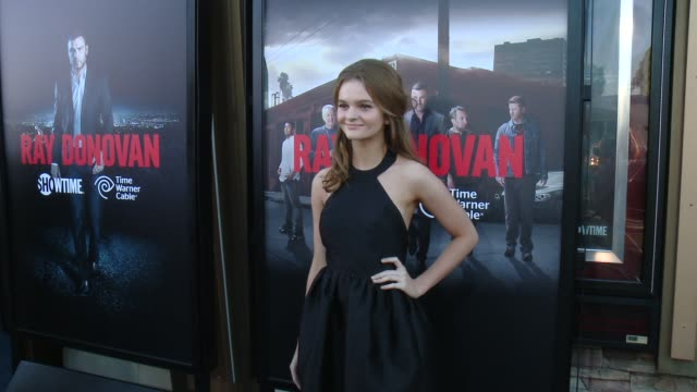kerris dorsey at showtime and time warner cable celebrate season two of ray donovan in los angeles ca - showtime video stock e b–roll