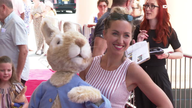 kerry howard at where is peter rabbit? press day at theatre royal haymarket on july 23, 2019 in london, england. - theatre royal haymarket stock videos & royalty-free footage