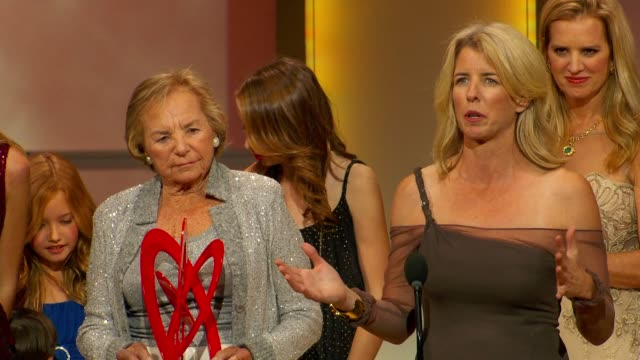 kerry kennedy dedicates this award to all the mothers and talks about getting arrested during a protest as she presents award to her mother ethel at... - ethel kennedy stock videos & royalty-free footage