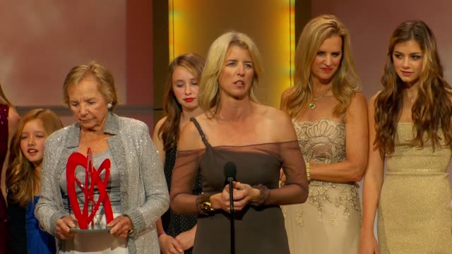 kerry kennedy talks about getting arrested during a protest as she presents award to her mother ethel at glamour magazine's 22nd annual women of the... - ethel kennedy stock videos & royalty-free footage