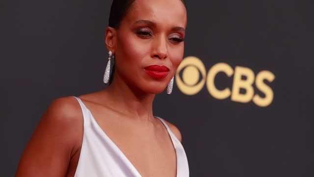 kerry washington arrives to the 73rd annual primetime emmy awards at l.a. live on september 19, 2021 in los angeles, california. - emmy awards stock videos & royalty-free footage