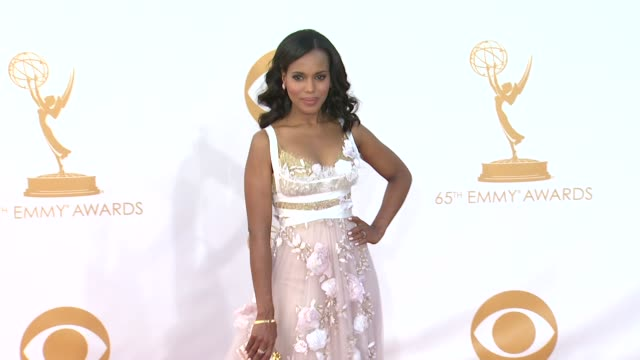 kerry washington at 65th annual primetime emmy awards arrivals kerry washington at 65th annual primetime emmy at nokia theatre la live on september... - annual primetime emmy awards stock-videos und b-roll-filmmaterial