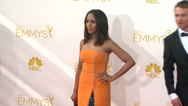 kerry washington at 66th primetime emmy awards - arrivals in los angeles, ca 8/25/14 - emmy awards stock videos & royalty-free footage
