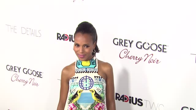kerry washington at grey goose vodka hosts 'the details' premiere in hollywood 10/29/12 - grey goose vodka stock videos & royalty-free footage
