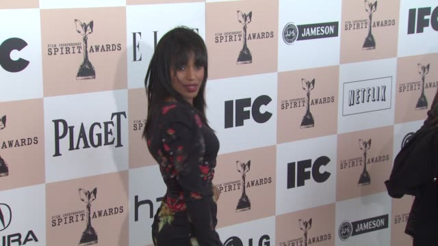 kerry washington at the 2011 independent spirit awards - arrivals part 2 at santa monica ca. - independent feature project stock videos & royalty-free footage