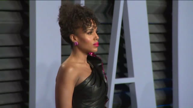 kerry washington at the 2018 vanity fair oscar party. - oscar party stock videos & royalty-free footage