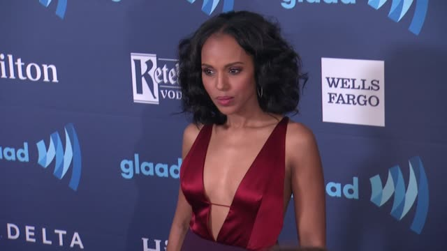 kerry washington at the 26th annual glaad media awards at the beverly hilton hotel on march 21 2015 in beverly hills california - the beverly hilton hotel stock videos & royalty-free footage