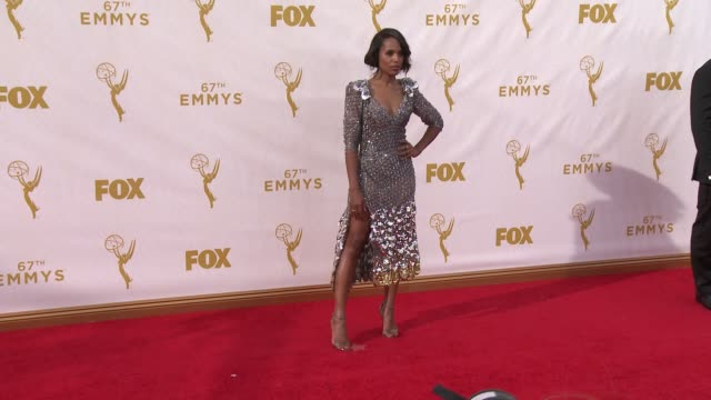 kerry washington at the 67th annual primetime emmy awards at microsoft theater on september 20 2015 in los angeles california - emmy awards stock videos & royalty-free footage