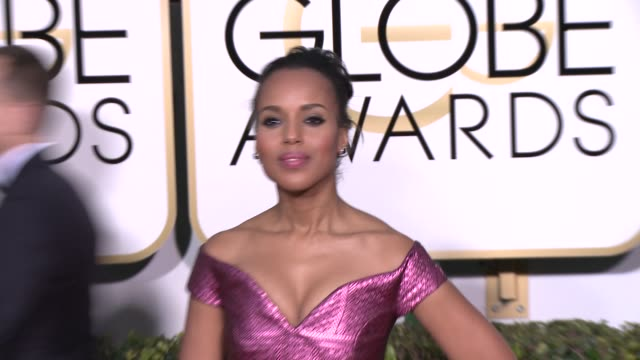Kerry Washington at the 72nd Annual Golden Globe Awards Arrivals at The Beverly Hilton Hotel on January 11 2015 in Beverly Hills California