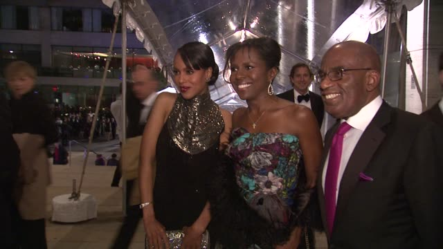 kerry washington, deborah and al roker at the lincoln center presents: an evening with ralph lauren hosted by oprah winfrey at new york ny. - al roker stock videos & royalty-free footage