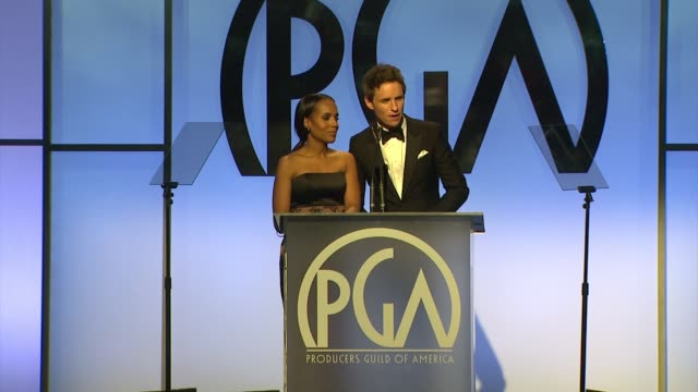 vidéos et rushes de kerry washington, eddie redmayne at 26th annual producers guild awards in los angeles, ca 1/24/15 - producer's guild of america awards