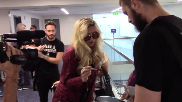 Kesha departing at LAX Airport in Los Angeles Celebrity Sightings on Sept 10 2015 in Los Angeles California