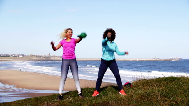Kettle Bell Training Outdoors