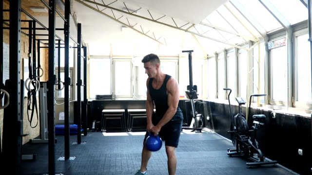 kettlebell swing - kettlebell stock videos & royalty-free footage