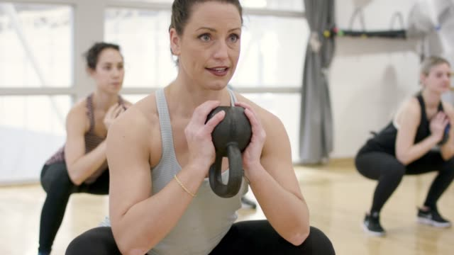 kettlebell workout - kettlebell stock videos & royalty-free footage