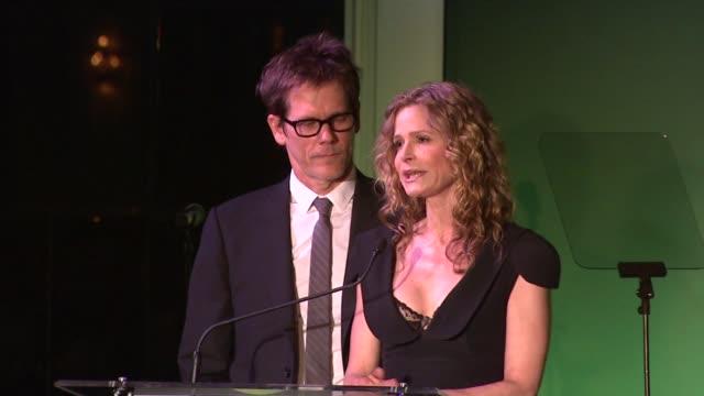 Kevin Bacon and Kyra Sedgwick open the awards at the Global Green USA Celebrates 15th Annual Millennium Awards at Santa Monica CA