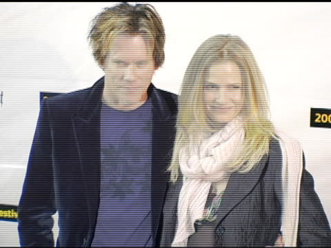 Kevin Bacon director and wife at the 2005 Sundamce Film Festival 'Loverboy' Premiere at the Eccles Theatre in Park City Utah on January 24 2005