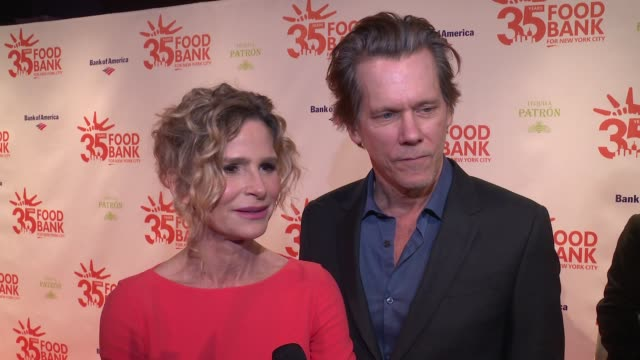 INTERVIEW Kevin Bacon Kyra Sedgwick on supporting the cause at 2018 Food Bank For New York City's Can Do Awards Dinner at Cipriani Wall Street on...