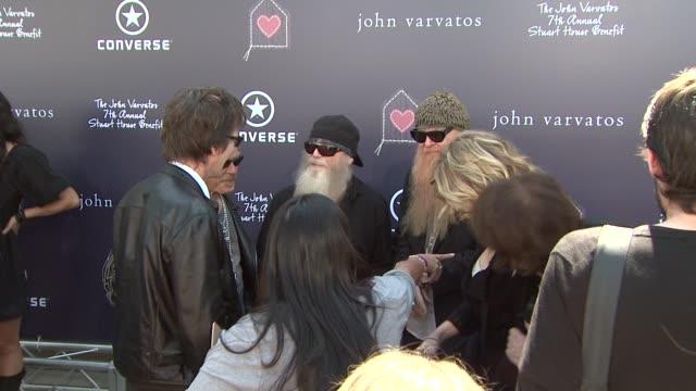 Kevin Bacon Kyra Sedgwick ZZ Top at the The John Varvatos 7th Annual Stuart House Benefit at Los Angeles CA