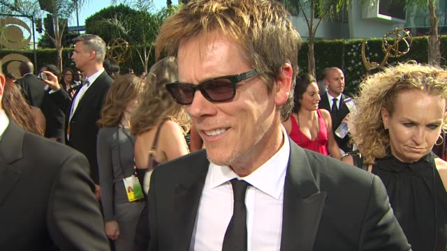Kevin Bacon on his nomination experiencing the Emmys if he prepared a speech at the 61st Annual Primetime Emmy Awards Arrivals at Los Angeles CA