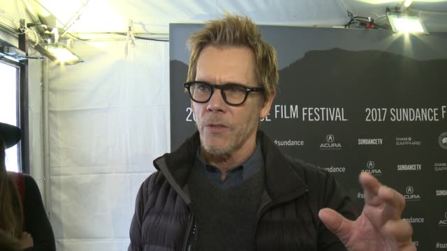 vídeos de stock, filmes e b-roll de interview kevin bacon on how it feels to have 'i love dick' at sundance why he wanted to be a part of this project and what will surprise fans about... - festival de cinema de sundance