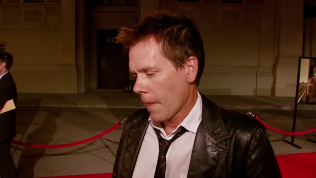 Kevin Bacon on how the events in the film change his character and what he hopes the audience takes away from the film at the 'Rails Ties' Los...