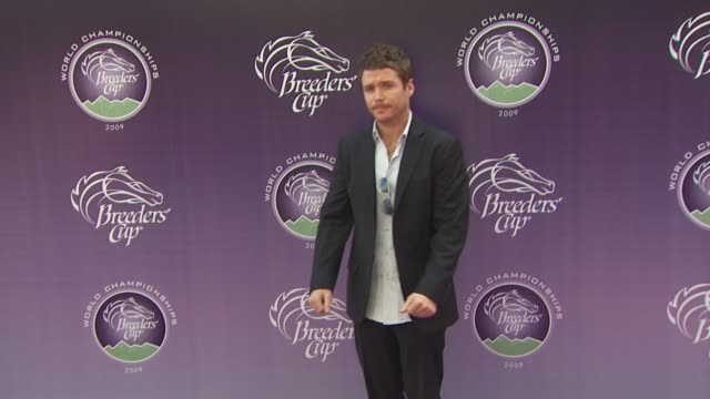 kevin connolly at the breeders' cup world thoroughbred championships at arcadia ca - championships stock videos & royalty-free footage