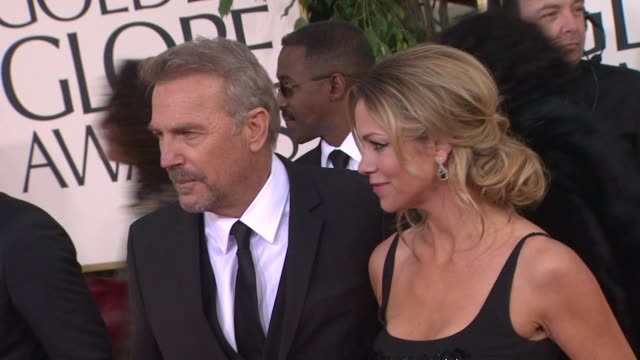 kevin costner at 70th annual golden globe awards arrivals 1/13/2013 in beverly hills ca - kevin costner stock videos & royalty-free footage