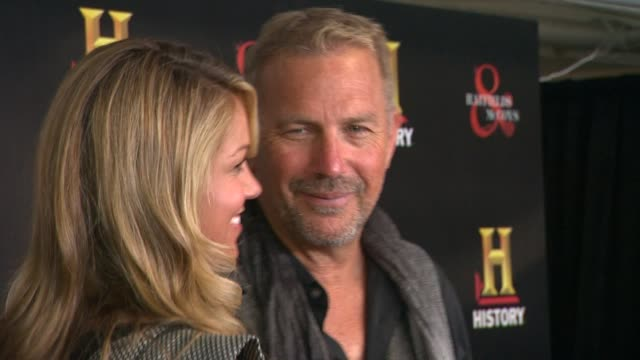 kevin costner at historyõs hatfields mccoys preemmy party at historyõs hatfields mccoys preemmy party on 9/22/12 in west hollywood california - kevin costner stock videos & royalty-free footage