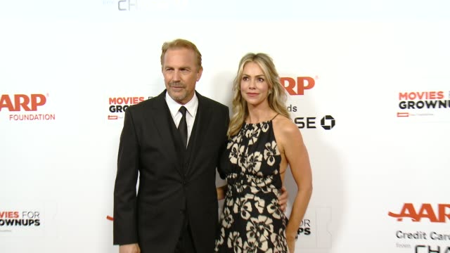 kevin costner at the 14th annual movies for grownups awards gala at the beverly wilshire four seasons hotel on february 02 2015 in beverly hills... - kevin costner stock videos & royalty-free footage