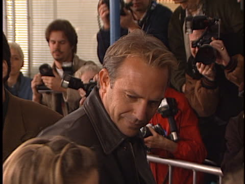kevin costner at the message in a bottle premiere at manns village theater westwood in westwood ca - regency village theater stock videos & royalty-free footage