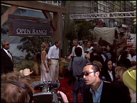 kevin costner at the 'open range' premiere at the cinerama dome at arclight cinemas in hollywood california on august 11 2003 - kevin costner stock videos & royalty-free footage