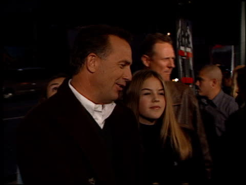 kevin costner at the 'play it to the bone' premiere at the el capitan theatre in hollywood california on january 10 2000 - kevin costner stock videos & royalty-free footage