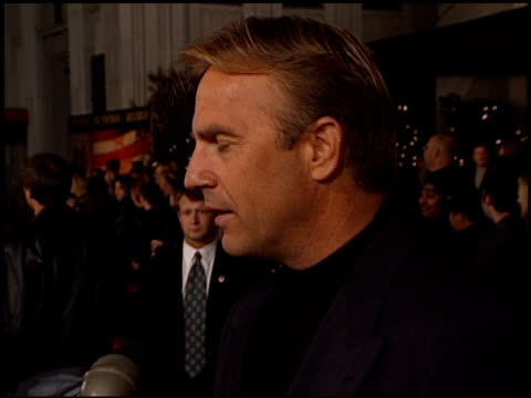 kevin costner at the premiere of 'the postman' at warner theater in burbank california on december 12 1997 - kevin costner stock videos & royalty-free footage