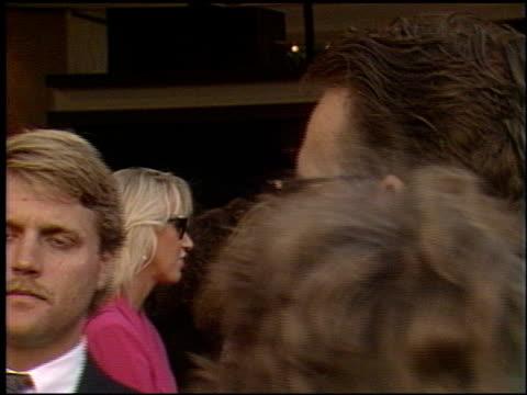 stockvideo's en b-roll-footage met kevin costner at the 'robin hood' premiere on june 10 1991 - kevin costner