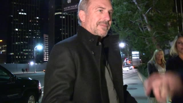 kevin costner christine baumgartner greet fans at a private cocktail party in century city 01/12/13 - kevin costner stock videos & royalty-free footage