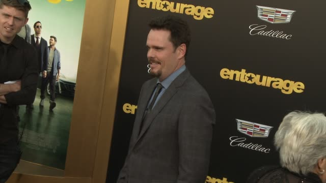 """kevin dillon at """"entourage"""" los angeles premiere at regency village theatre on june 01, 2015 in westwood, california. - regency village theater stock videos & royalty-free footage"""