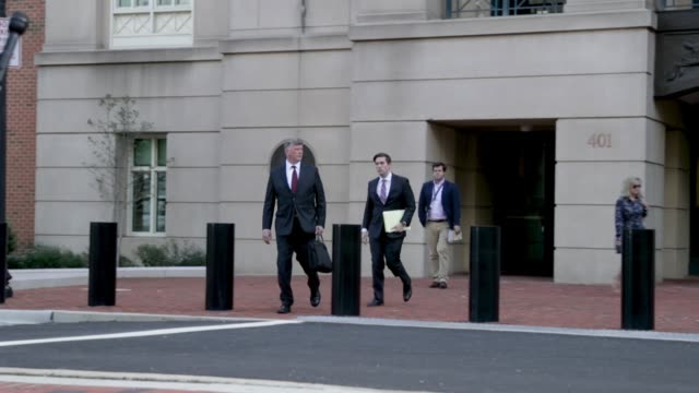 kevin downing attorney for former trump campaign chairman paul manafort leaves the albert v bryan united states courthouse at the end of the day on... - 2016 united states presidential election stock videos & royalty-free footage