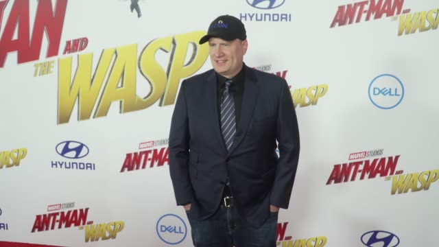Kevin Feige at the 'AntMan and the Wasp' World Premiere at the El Capitan Theatre on June 25 2018 in Hollywood California