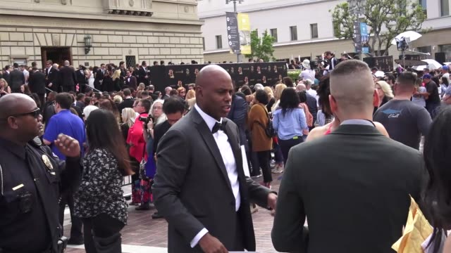kevin frazier arriving to the 46th annual daytime emmy awards at pasadena civic center in pasadena in celebrity sightings in los angeles - daytime emmy preisverleihung stock-videos und b-roll-filmmaterial