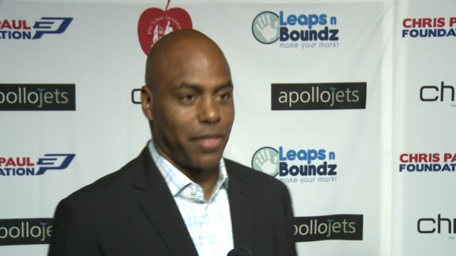 INTERVIEW Kevin Frazier on the event at The CP3 Foundation's Celebrity Server Dinner Hosted By Chris Paul in Los Angeles CA