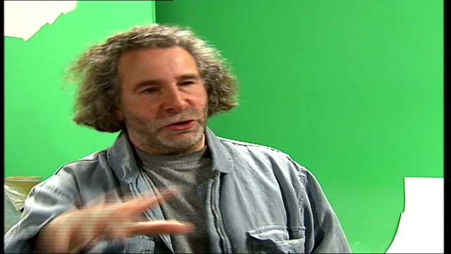 new video; itn england: london: int kevin godley interview sot - michael jackson developed morphing, but we're probably remembered for it because we... - morphing stock-videos und b-roll-filmmaterial
