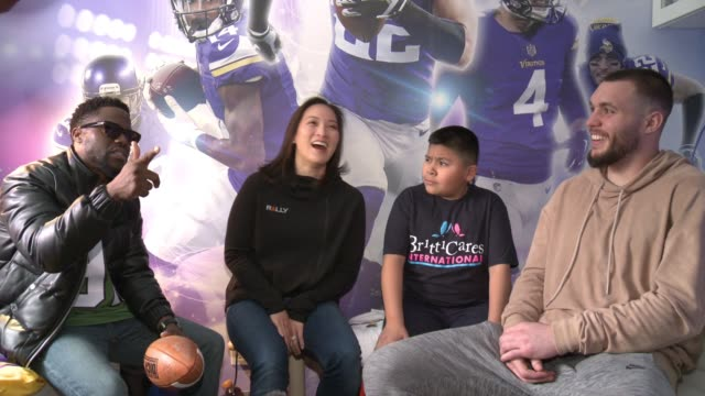 INTERVIEW Kevin Hart Andrew Rojas Harrison Smith at Young Boy Gets FootballThemed Room Makeover With Surprise Visit From Comedian Kevin Hart And...