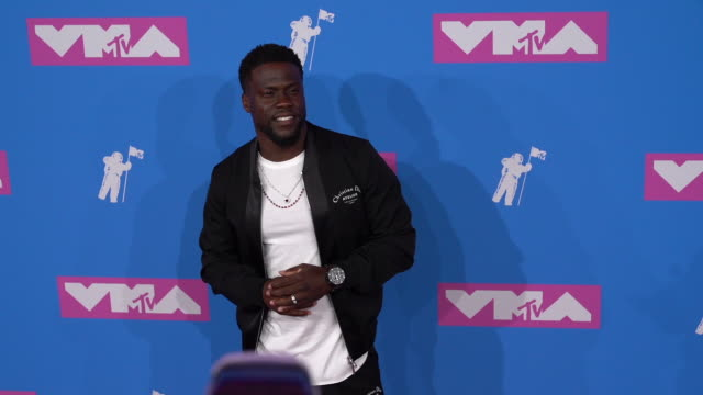 kevin hart at 2018 mtv video music awards at radio city music hall on august 20 2018 in new york city - mtv video music awards stock videos & royalty-free footage