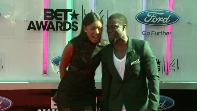kevin hart at the 2014 bet awards on june 29 2014 in los angeles california - bet awards stock videos and b-roll footage