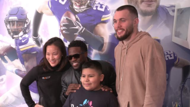 Kevin Hart Harrison Smith at Young Boy Gets FootballThemed Room Makeover With Surprise Visit From Comedian Kevin Hart And Vikings Safety Harrison...