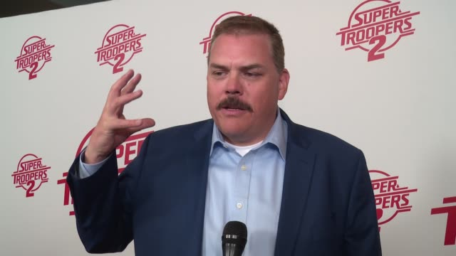 interview kevin heffernan on coming back to the fan favorite at super troopers 2 new york premiere presented by fox searchlight pictures at regal... - super troopers 2 stock videos & royalty-free footage